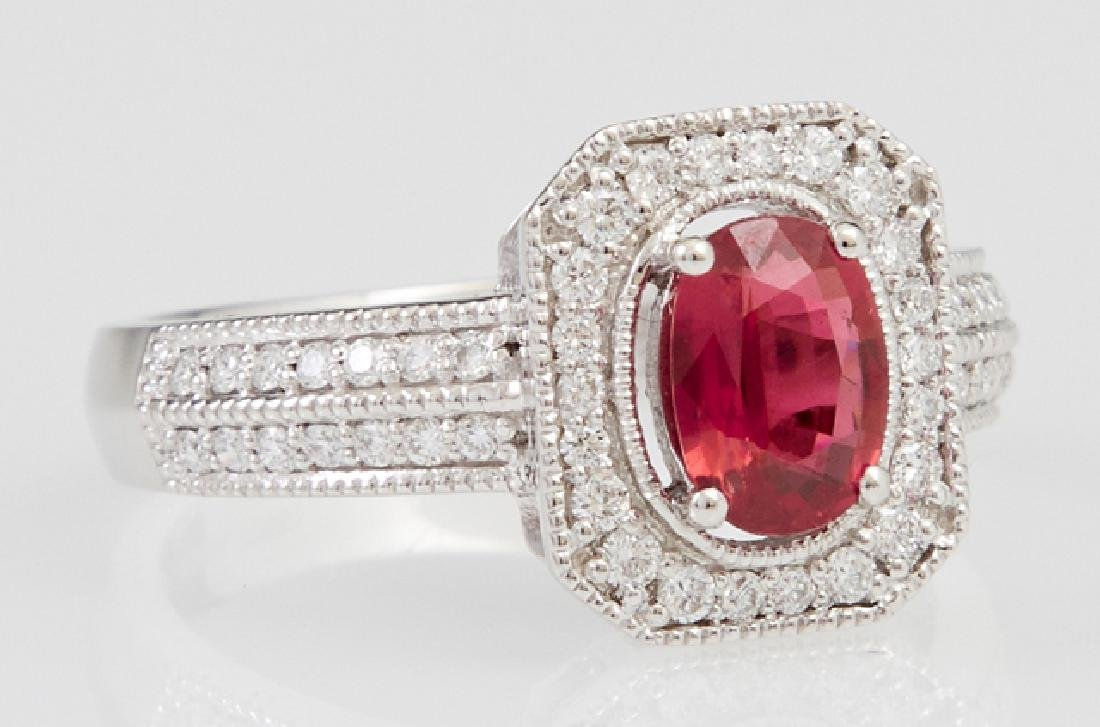 Lady's Platinum Dinner Ring, with an oval 1.04 carats