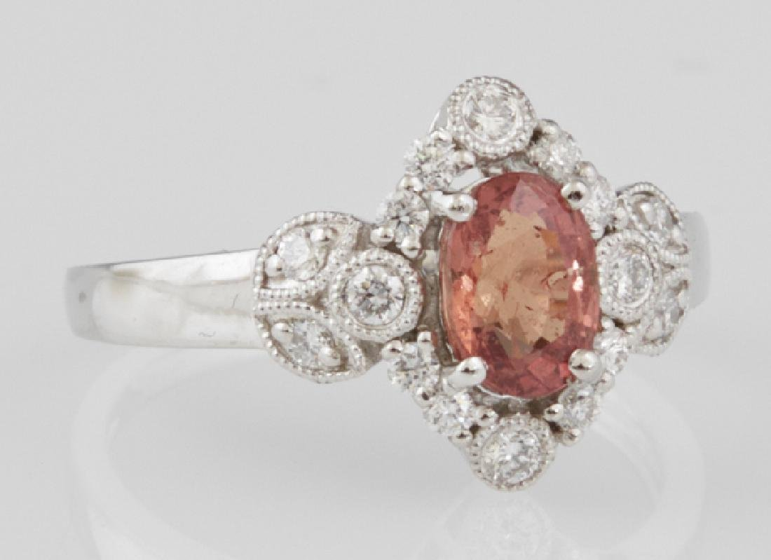 Lady's Platinum Dinner Ring, with an oval 1.23 carat