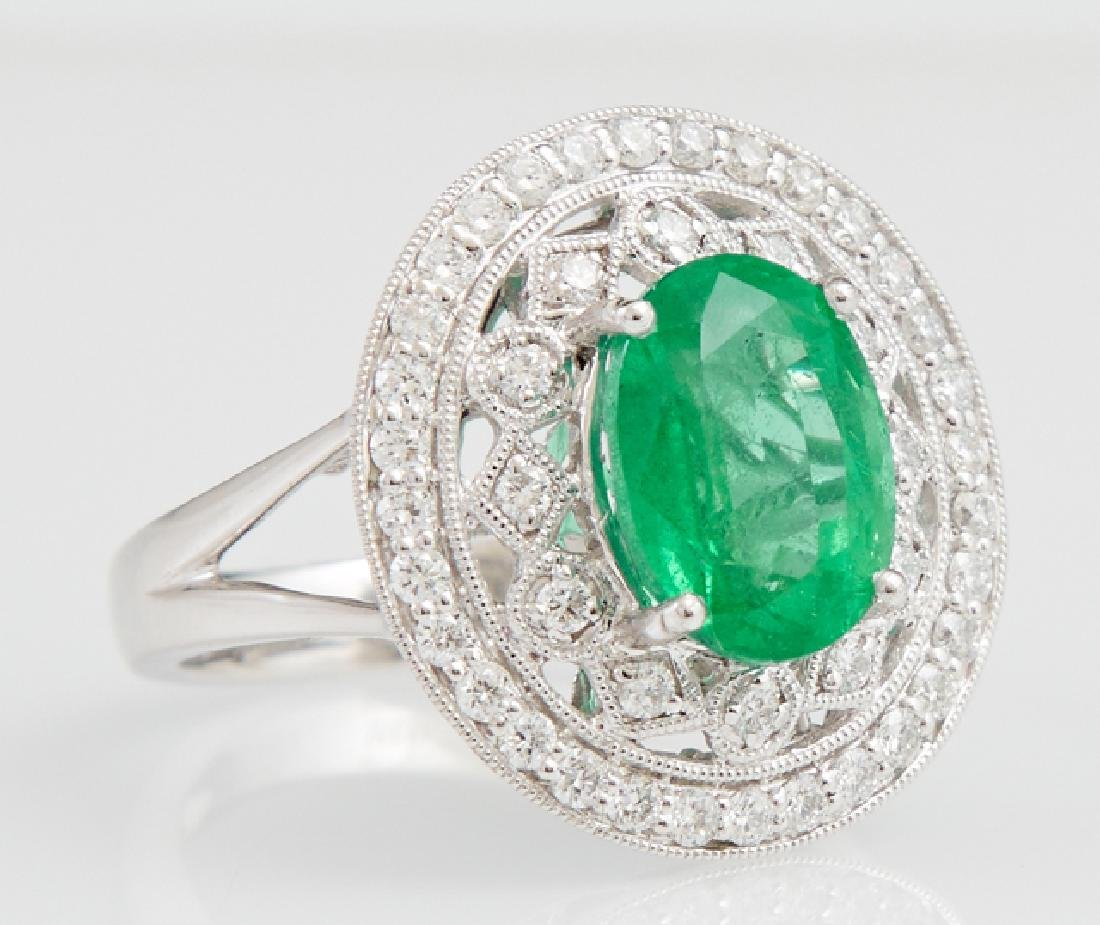 Lady's Platinum Dinner Ring, with an oval 3.6 carat