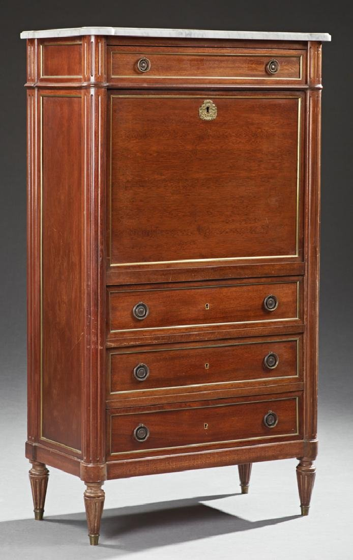 French Carved Mahogany Ormolu Mounted Louis XVI Style