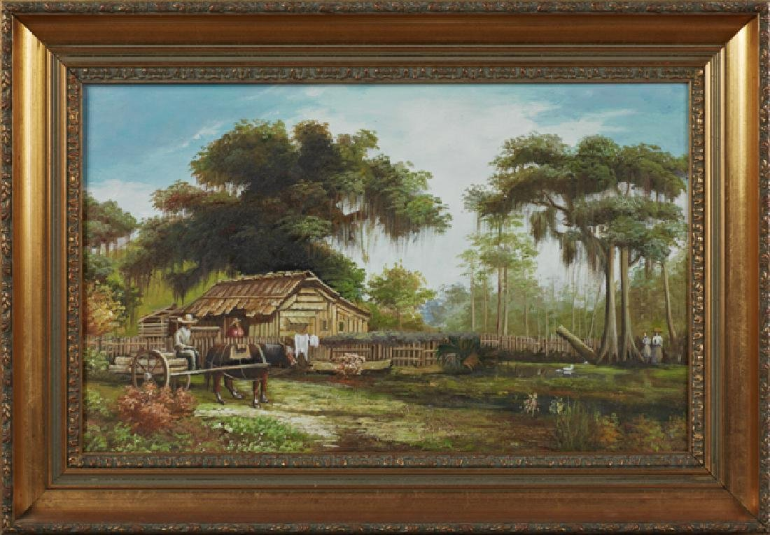 "After William Aiken Walker, ""Louisiana Cabin,"" late"