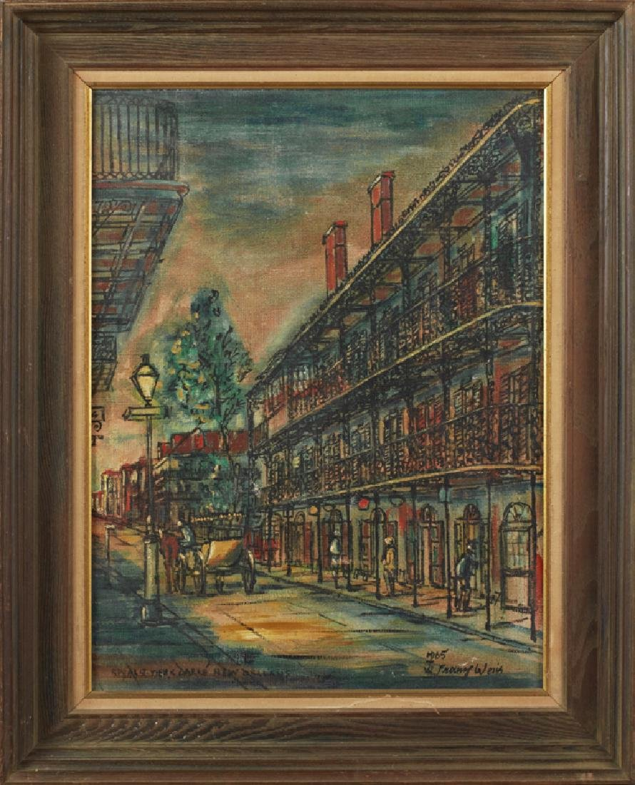 "Franz Weiss (1903-1982, New Orleans), ""Royal Street"
