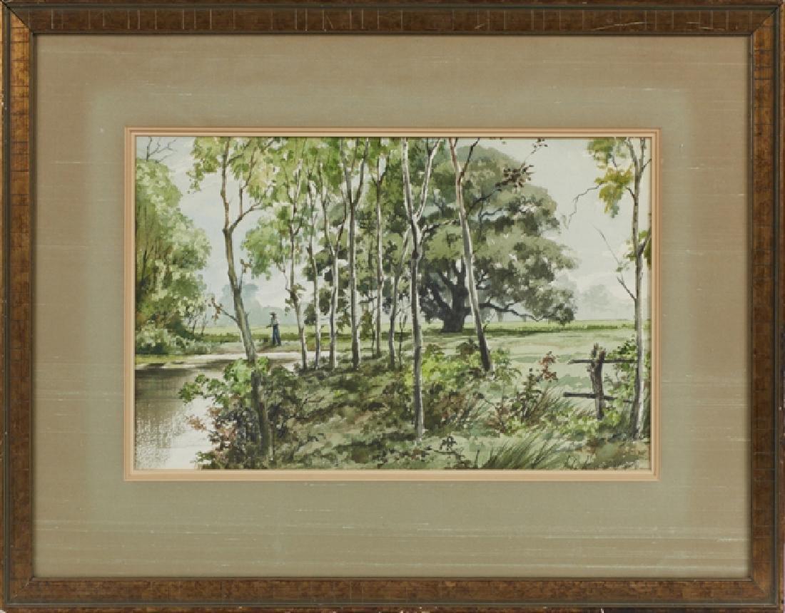"John Korver (1910-1988, Baton Rouge), ""Fisherman in a"