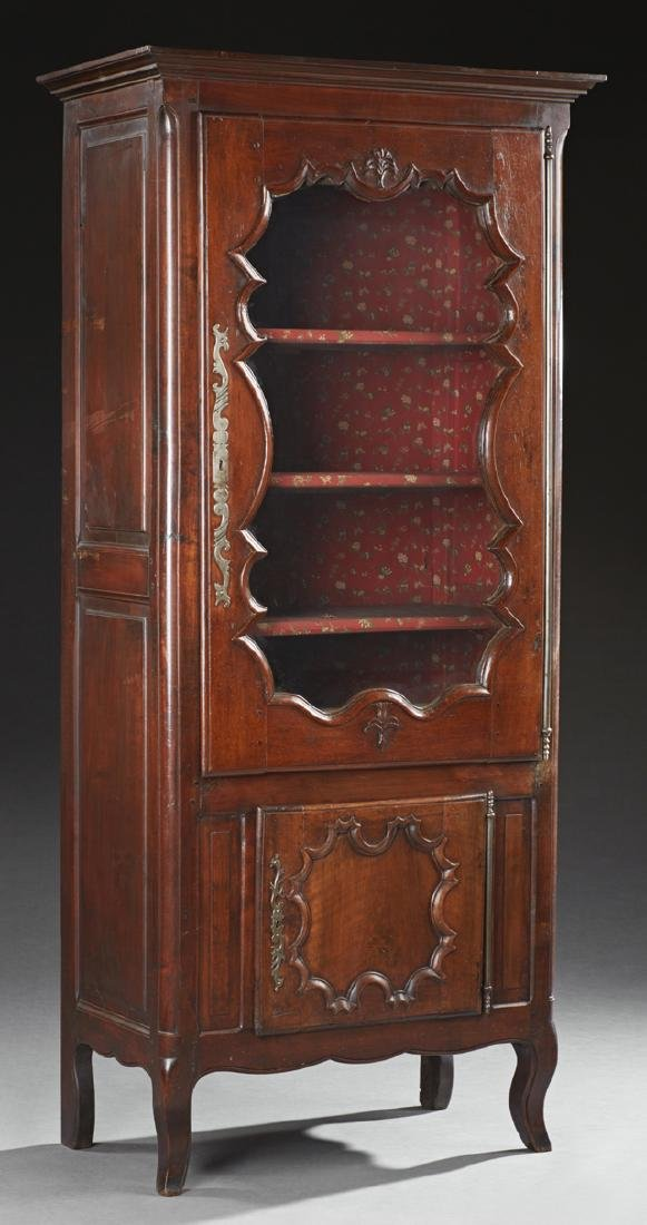 French Louis XV Style Carved Walnut and Cherry