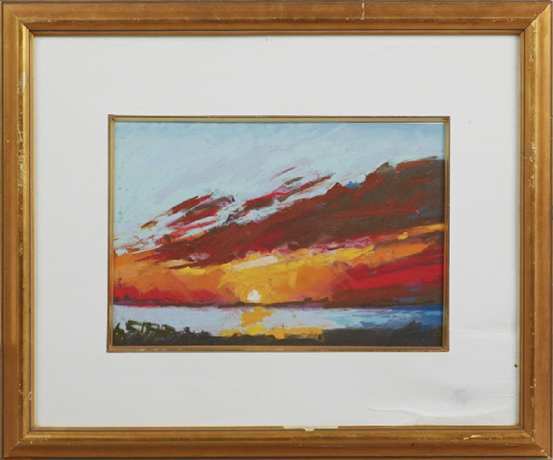 "Joachim Cassell (Spanish, New Orleans), ""Gulf Sunset,"""
