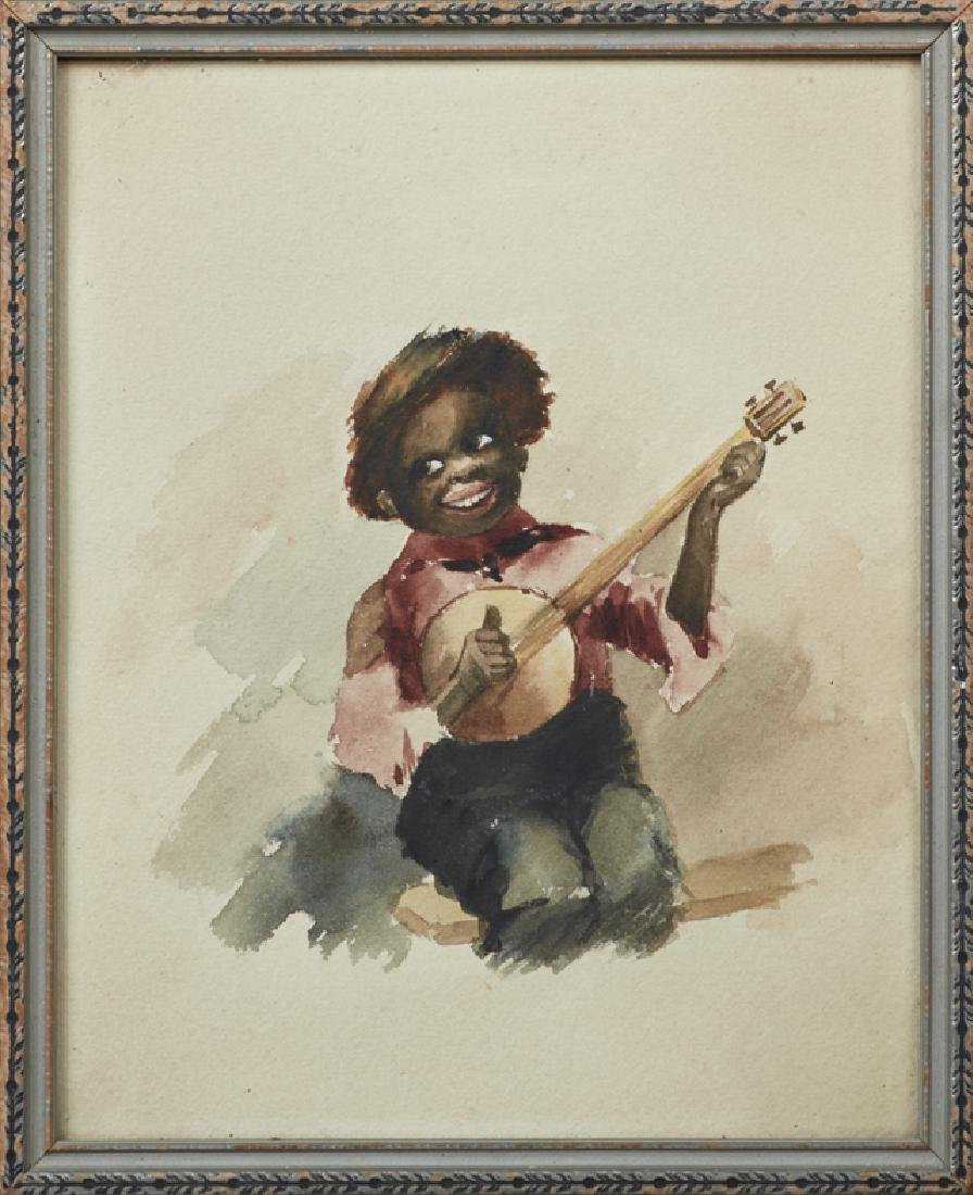 """Southern School, """"The Banjo Player,"""" 19th c.,"""