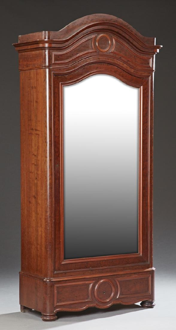 French Louis Philippe Carved Mahogany Armoire, 19th c.,