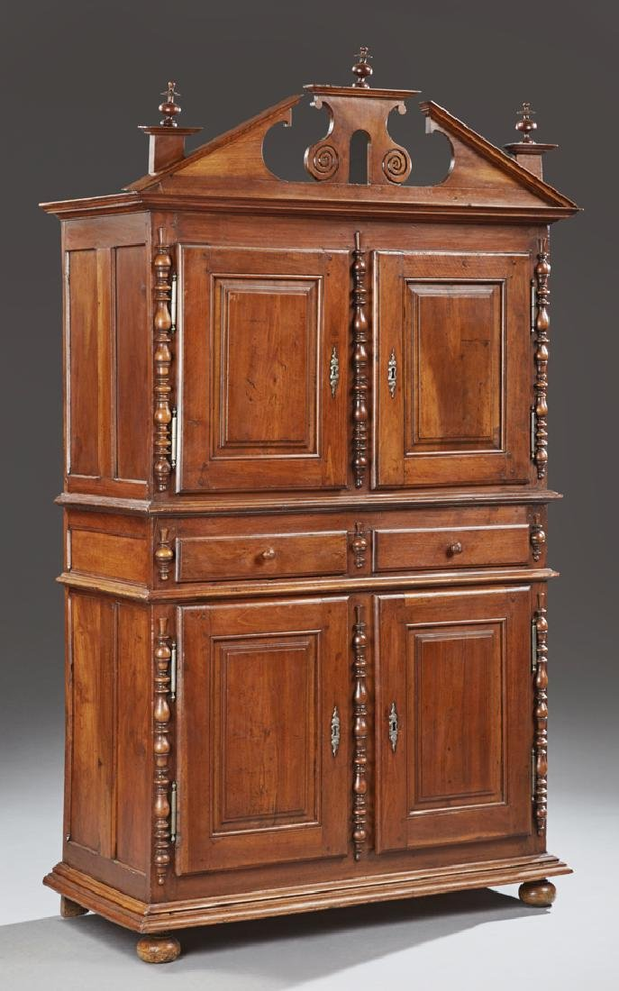 Diminutive French Provincial Carved Walnut Buffet a