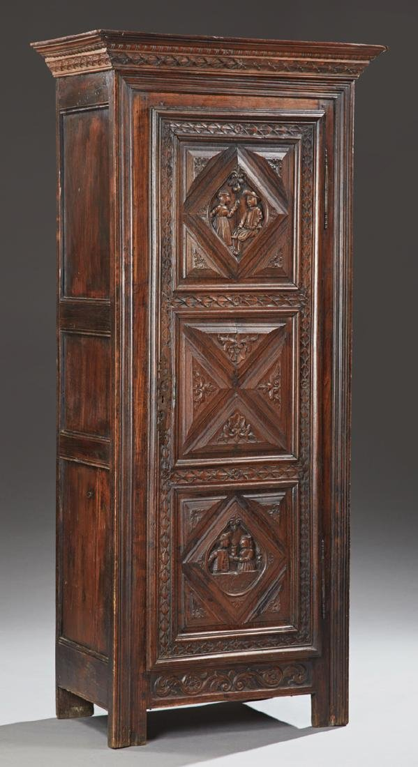 French Provincial Louis XIII Style Carved Walnut