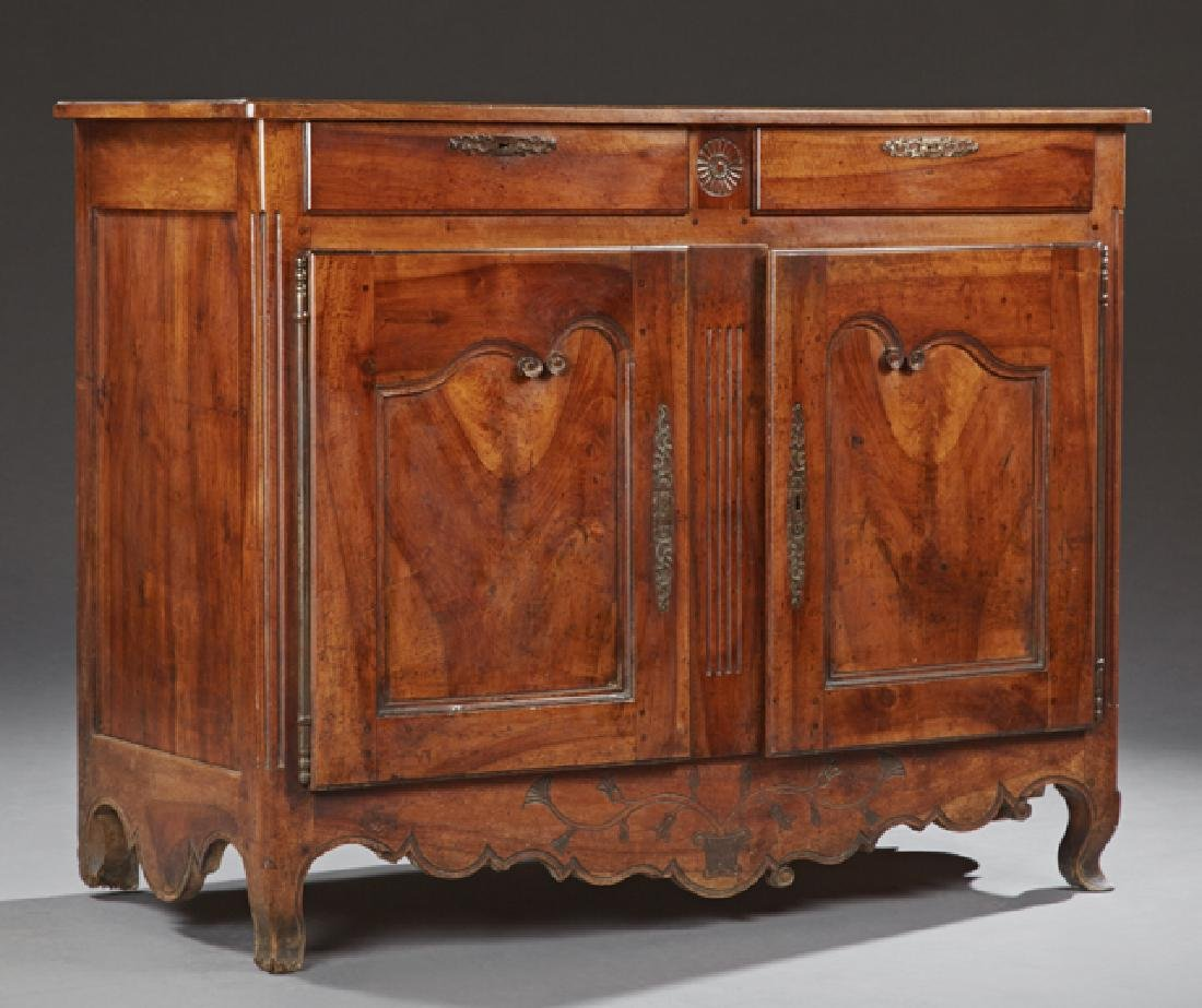 French Provincial Carved Walnut Sideboard, late 19th