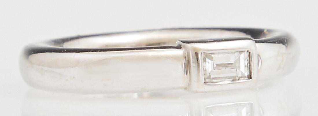Lady's 14K White Gold Dinner Ring, with a central