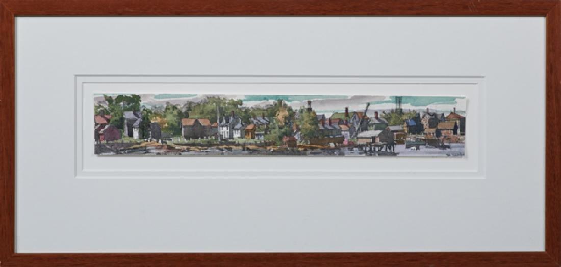 "P. Hardy, ""Harbor Scene,"" 20th c., watercolor, signed"