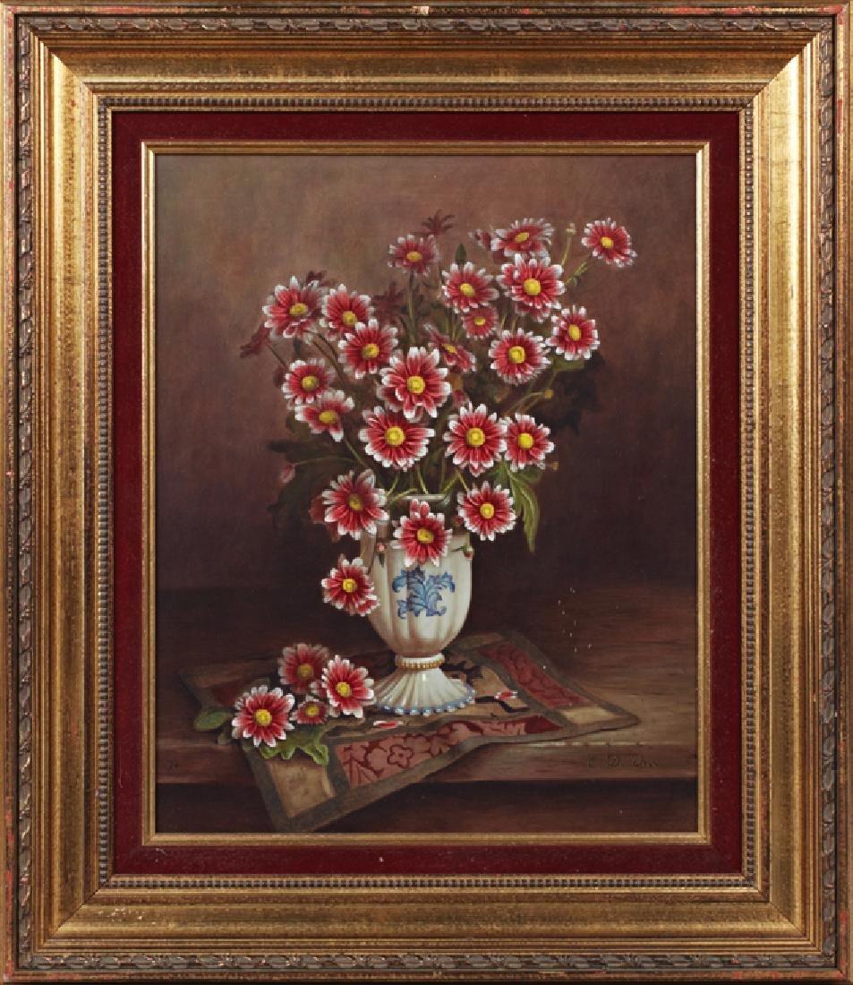 "Erik De Vree (1966-), ""Still Life of Flowers in a White"
