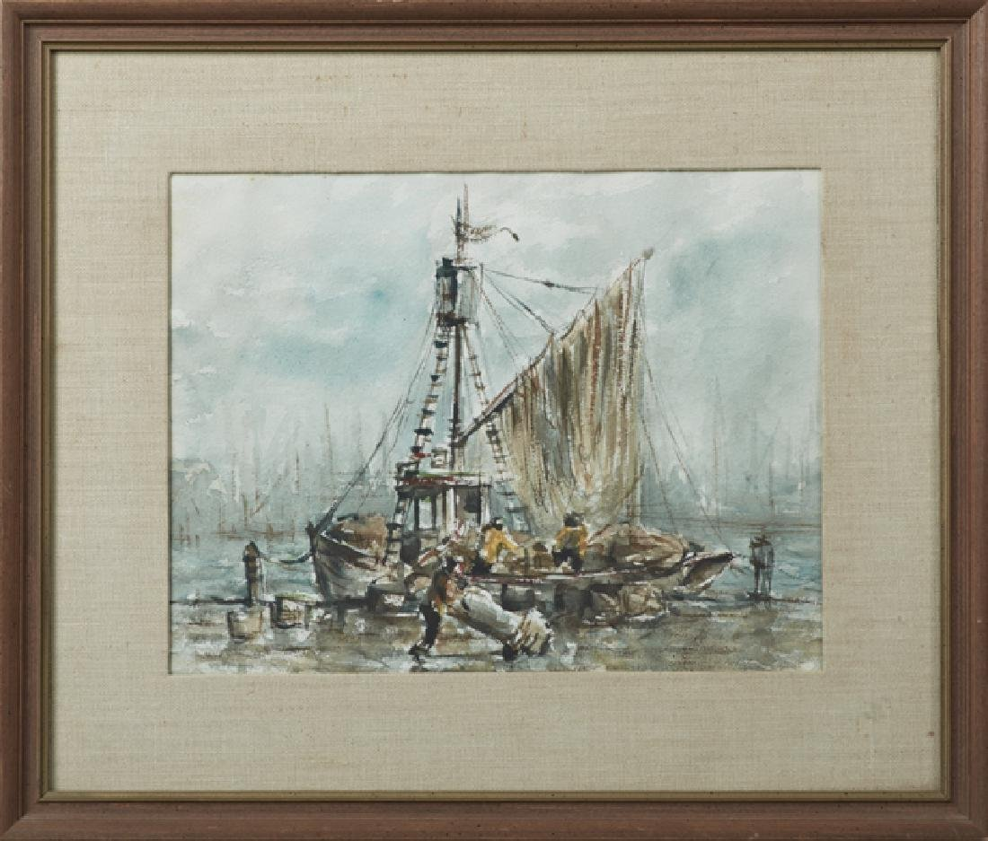 """Continental School, """"Loading the Fishing Boat,"""" 20th"""