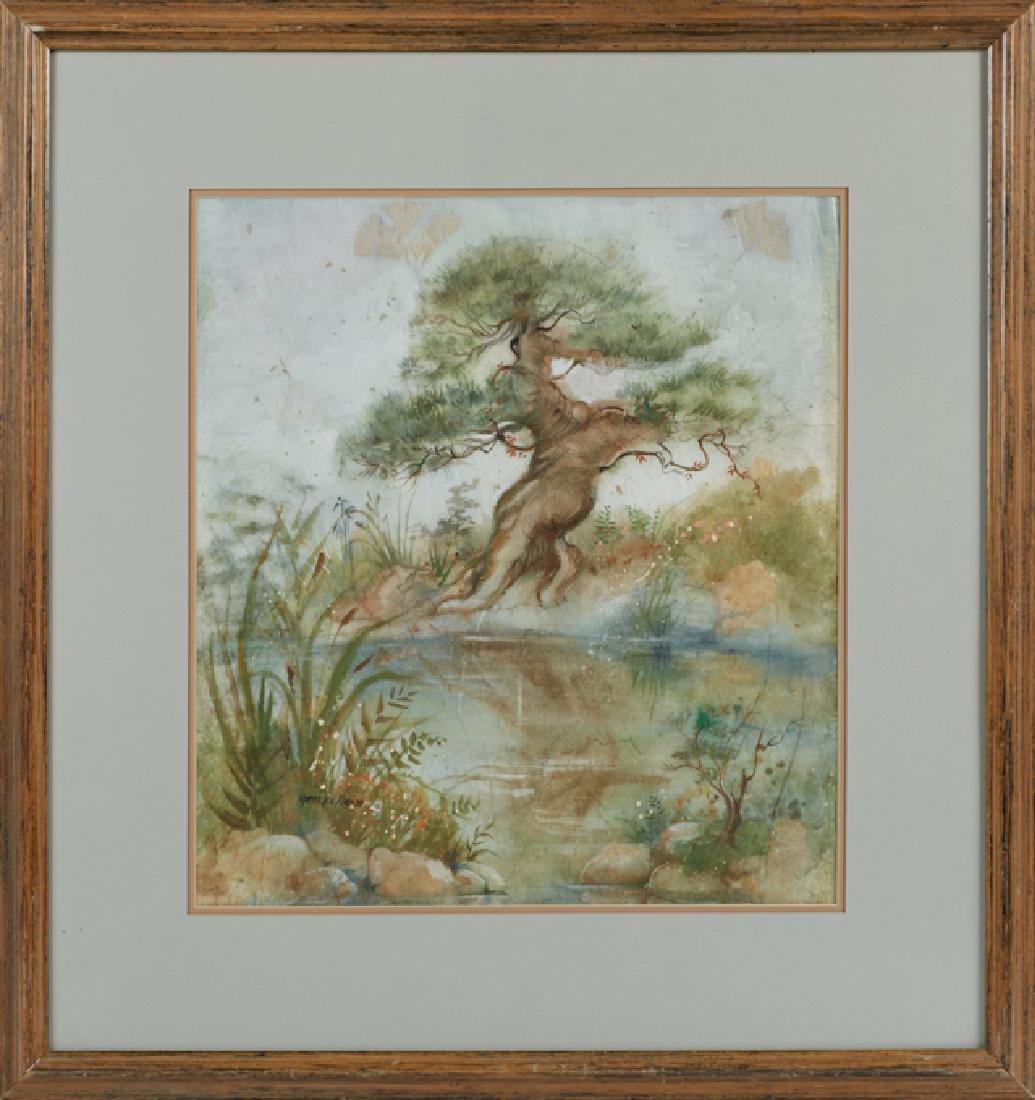 "Gayle Lee Nasca (Georgia), ""Southern Landscape with Oak"