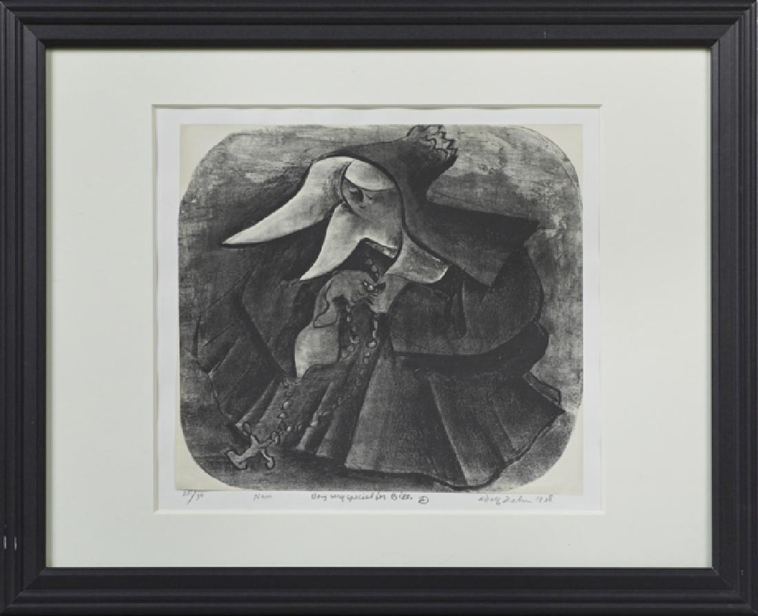 """Adolph Arthur Dehn (1895-1968), """"Nun,"""" 1928, lithograph"""