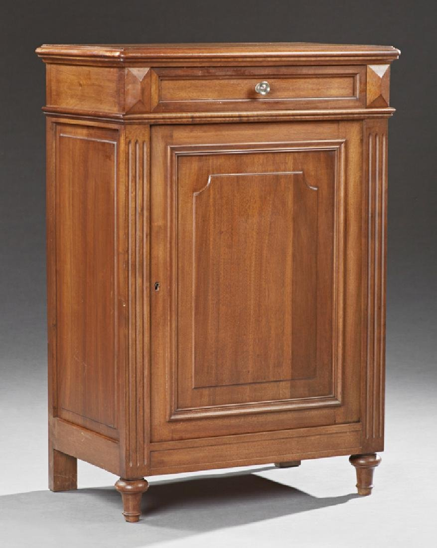French Louis Philippe Style Carved Walnut Confiturier,