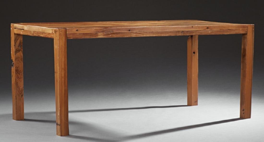 Contemporary Carved Cypress Dining Table, 21st c., by
