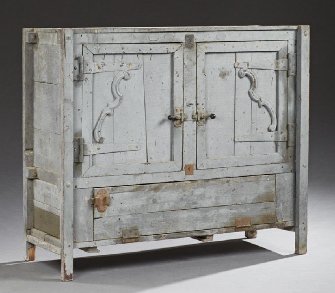 French Provincial Polychromed Pine Sideboard, 19th c.,
