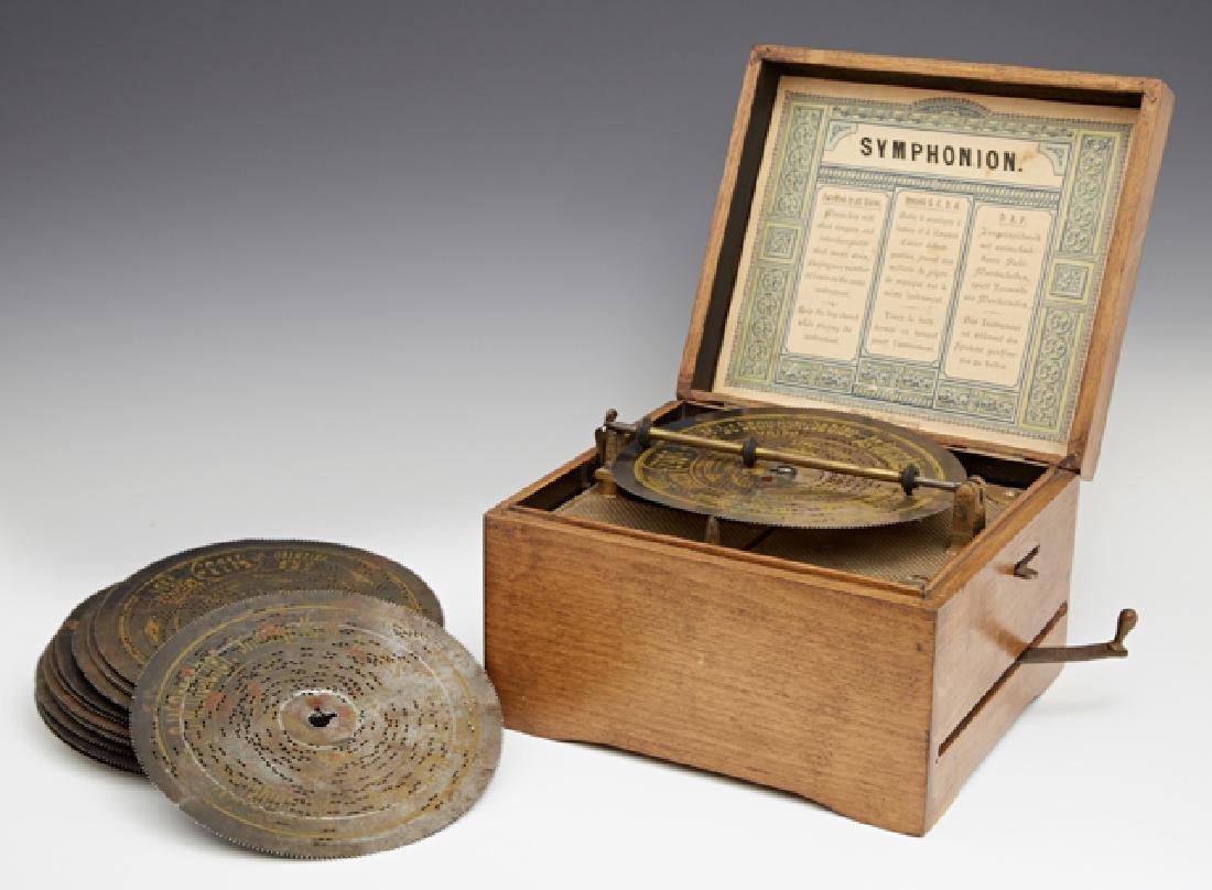 """Symphonion """"Simplex"""" 5 3/4 in. Disc Oak Music Box,"""