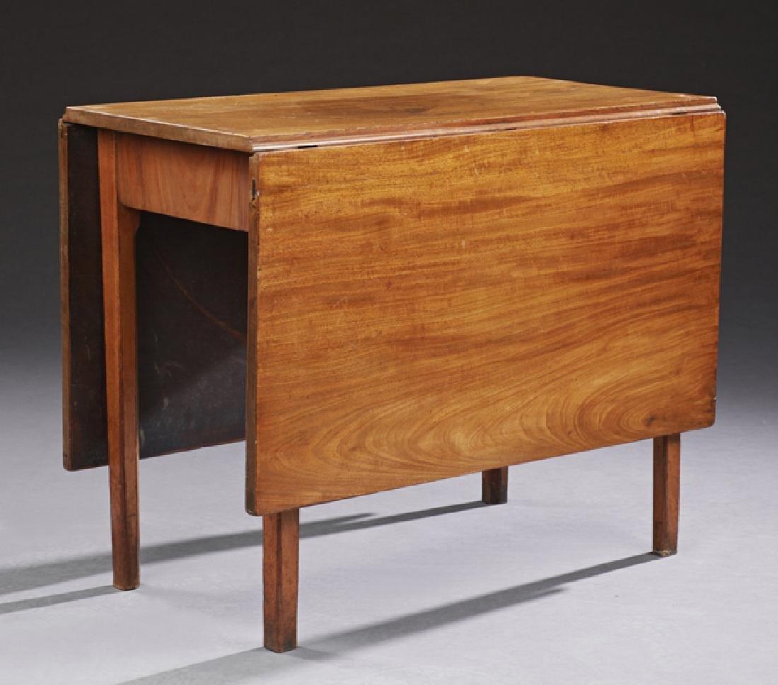 American Federal Style Carved Walnut Drop Leaf Table,
