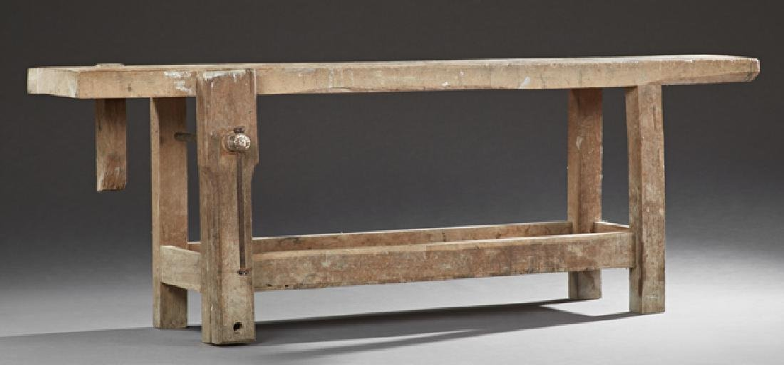 French Cabinet Marker's Workbench, 19th c., the thick