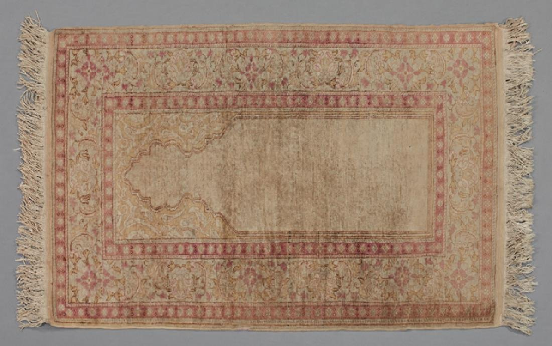 Antique Sari Prayer Rug, 3' x 4'.