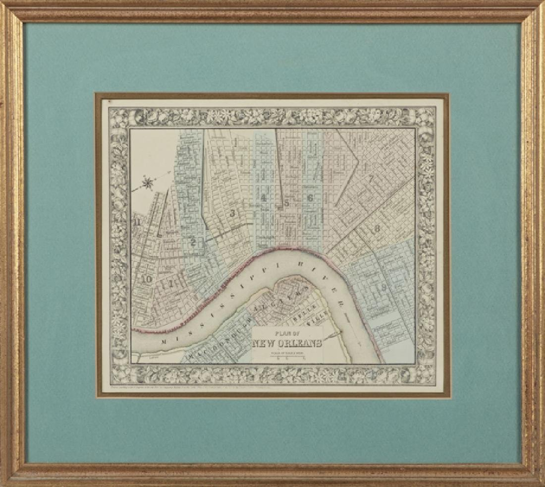 Two Antique Maps, consisting of S. Augustus Mitchell,