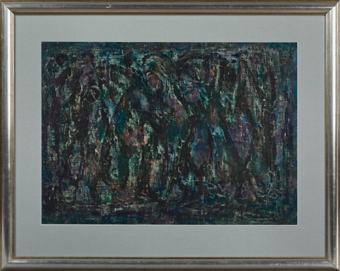 "Froilan Luduena, ""Abstract,"" c. 1957, oil on paper,"