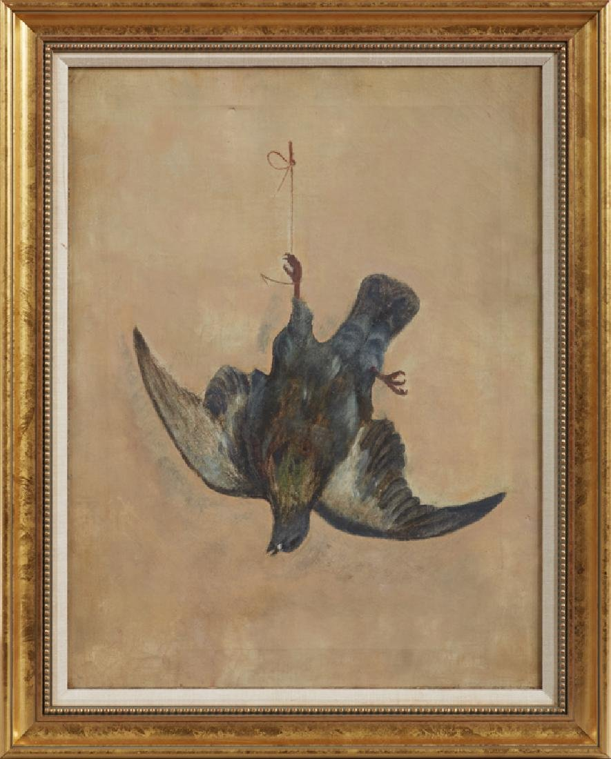 "American School, ""Natur Morte of a Bird,"" c. 1900, oil"