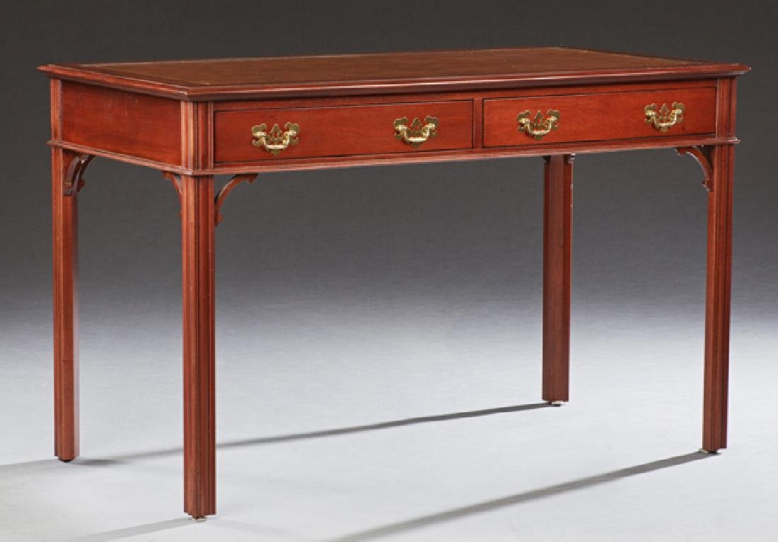 Chippendale Style Carved Mahogany Writing Table, 20th