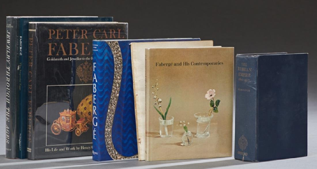 "Group of Seven Antique Books, consisting of ""Faberge,"