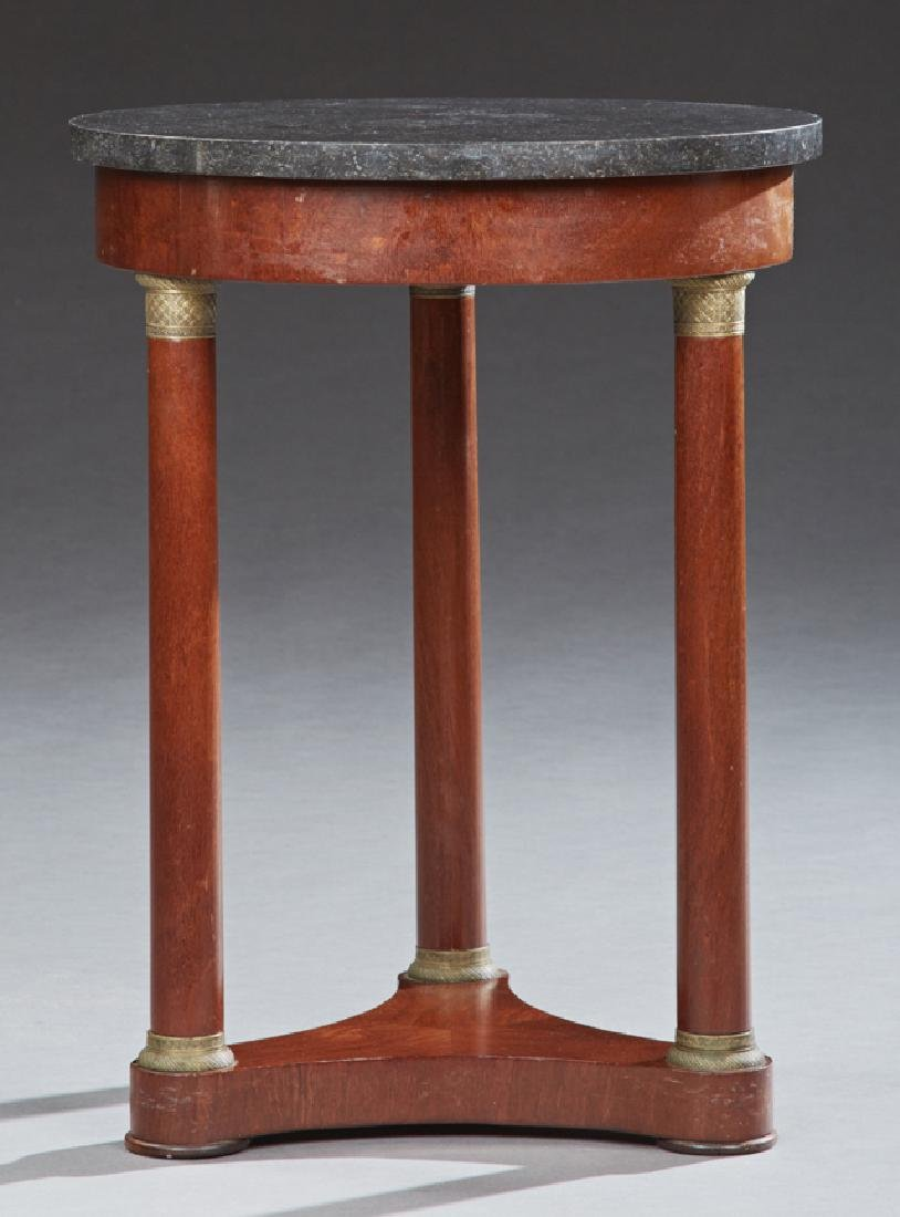 French Empire Style Ormolu Mounted Carved Mahogany
