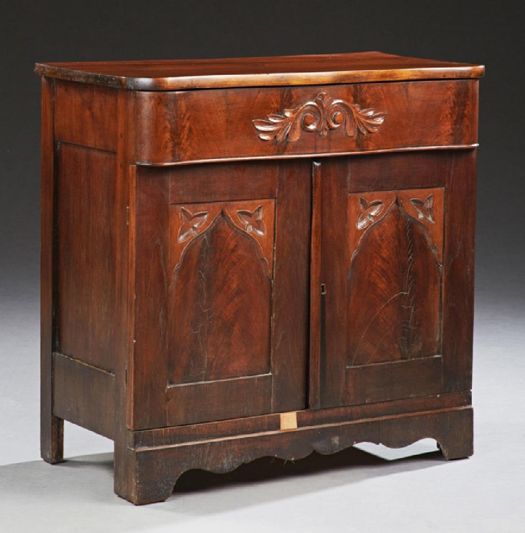 American Carved Mahogany Washstand Base, 19th c., the