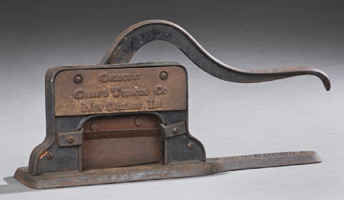 Cast Iron New Orleans Tobacco Cutter, 19th c., marked