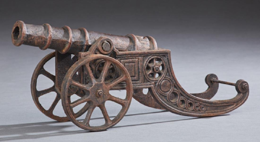Cast Iron Scale Model of a Cannon, 20th c., with a