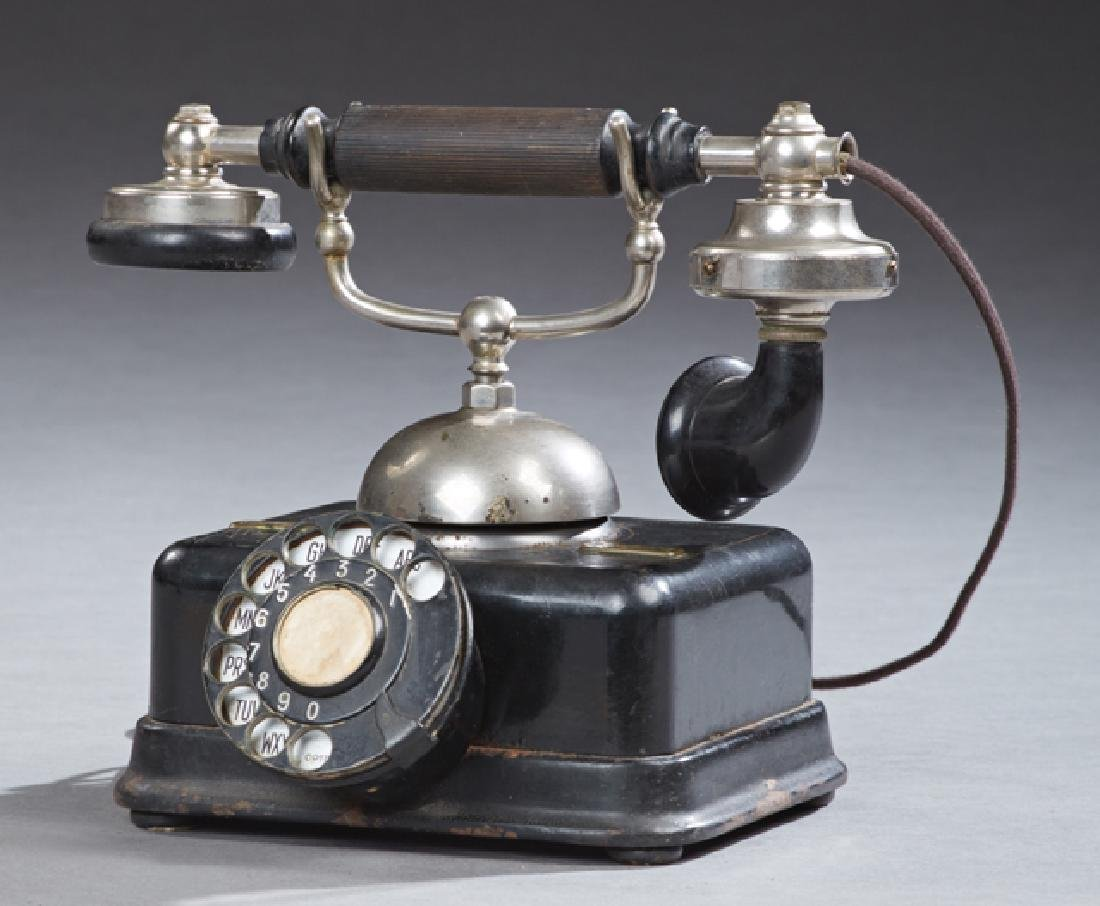 L. M. Ericsson Dial Telephone, early 20th c., now wired