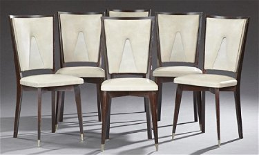 Incredible Six Art Deco Style Ebonized Mahogany Dining Chairs Machost Co Dining Chair Design Ideas Machostcouk