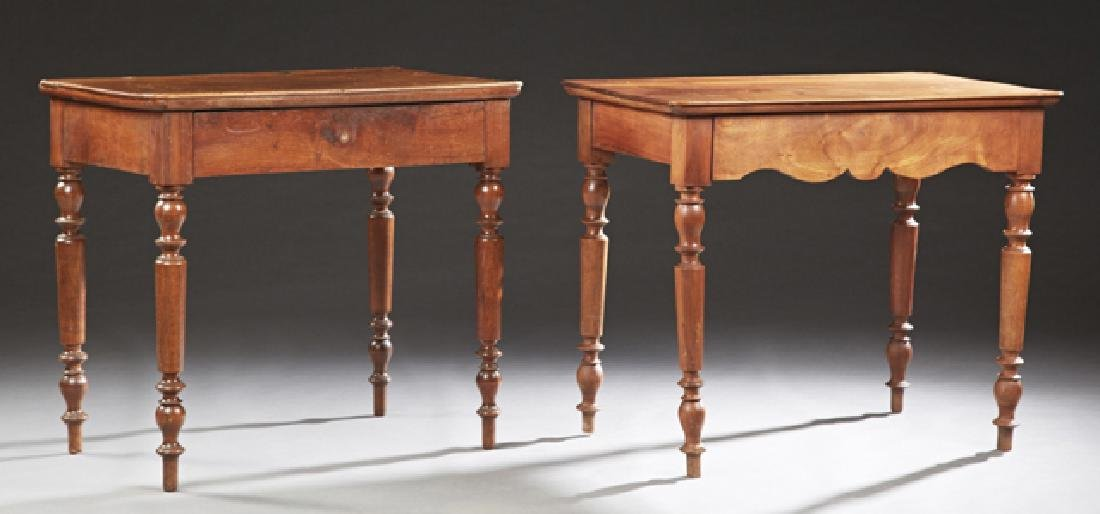French Provincial Louis Philippe Carved Walnut Writing