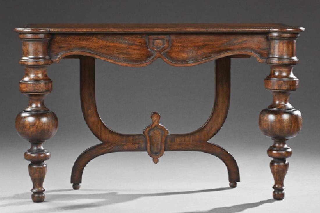 Continental Style Carved Mahogany Console Table, 20th