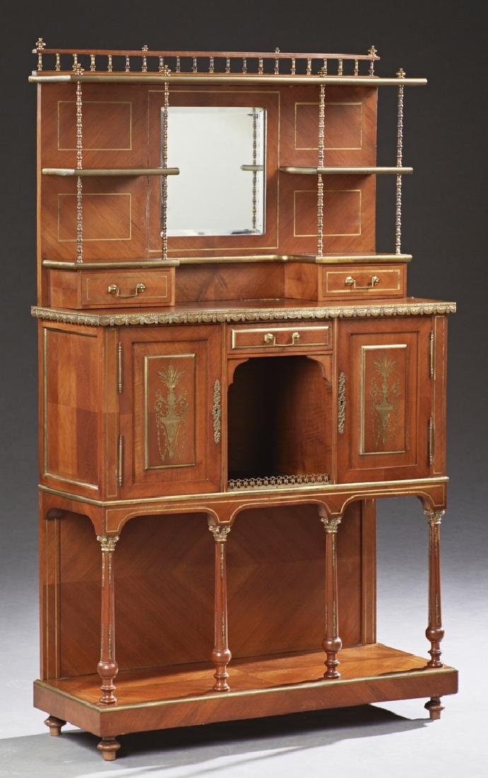 French Ormolu Mounted Mahogany Parlor Cabinet, with a