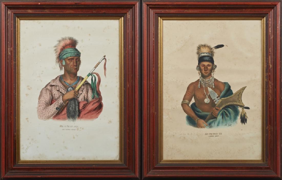 "McKenney & Hall Prints, ""Ap-Pa-Noo-Se, Saukie Chief"""