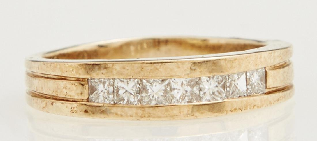 Man's 14K Yellow Gold Dinner Ring, the center with a