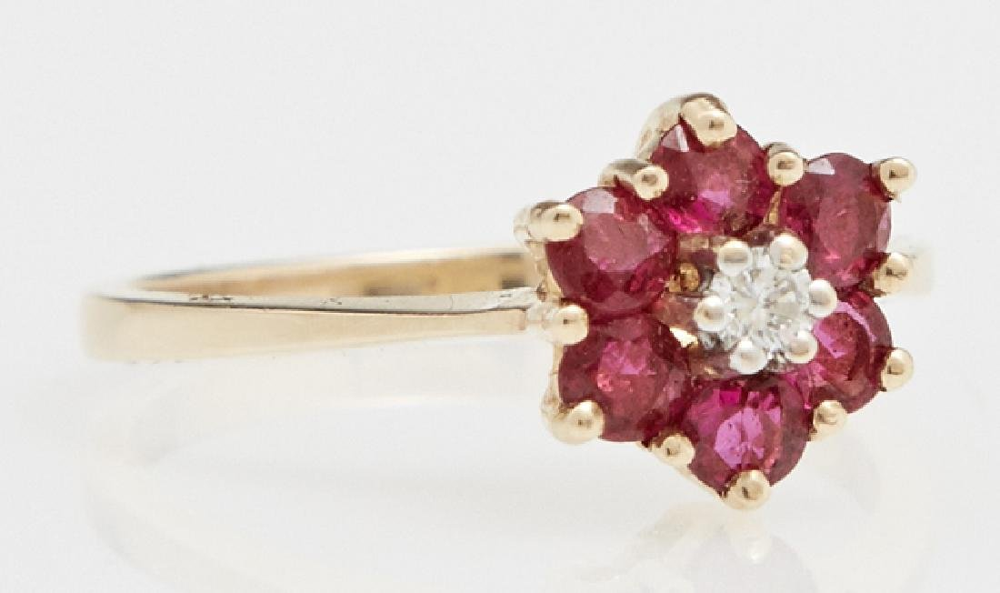 Lady's 14K Yellow Gold Floriform Dinner Ring, with a