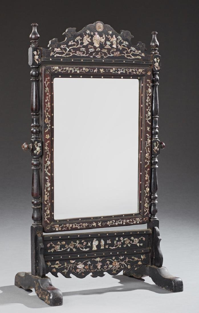 Chinese Mother of Pearl Inlaid Mahogany Dressing