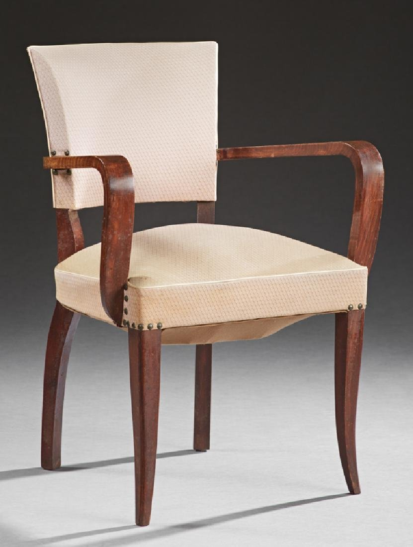 French Mid Century Modern Bentwood Beech Fauteuil, c.
