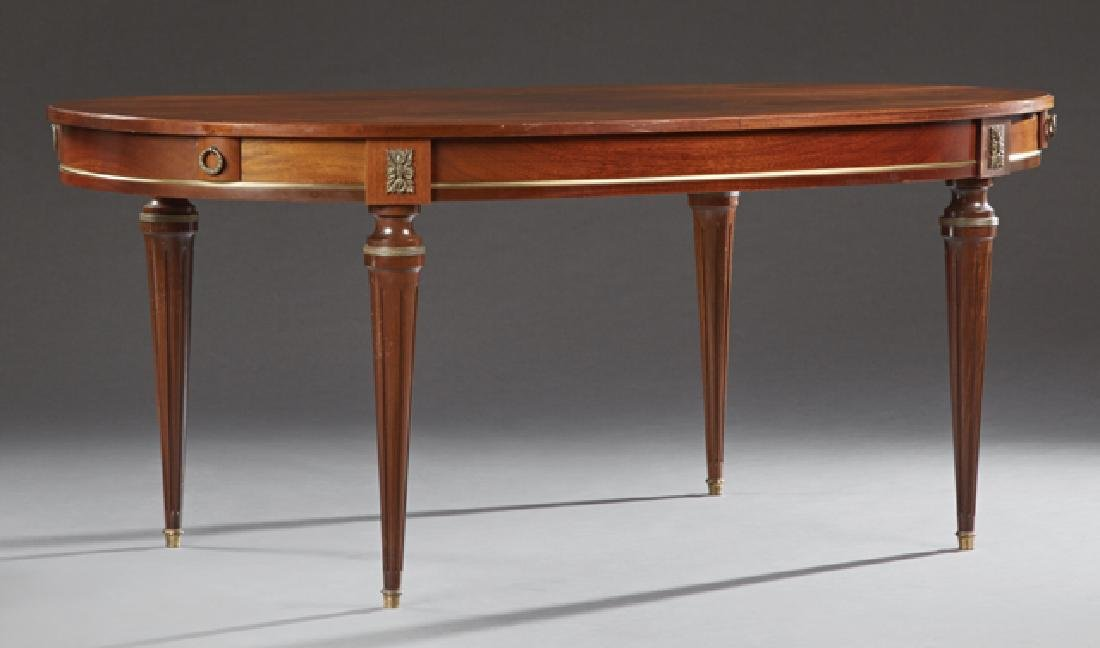 French Louis XVI Style Carved Mahogany Ormolu Mounted