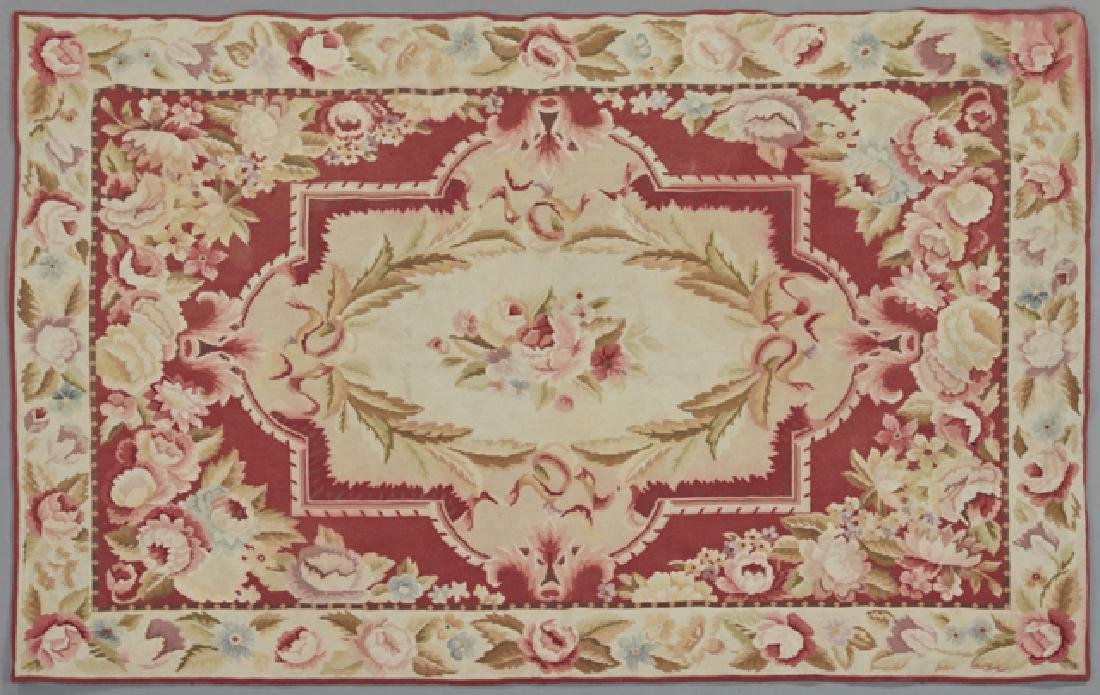 Aubusson Style Needlepoint Carpet, with floral
