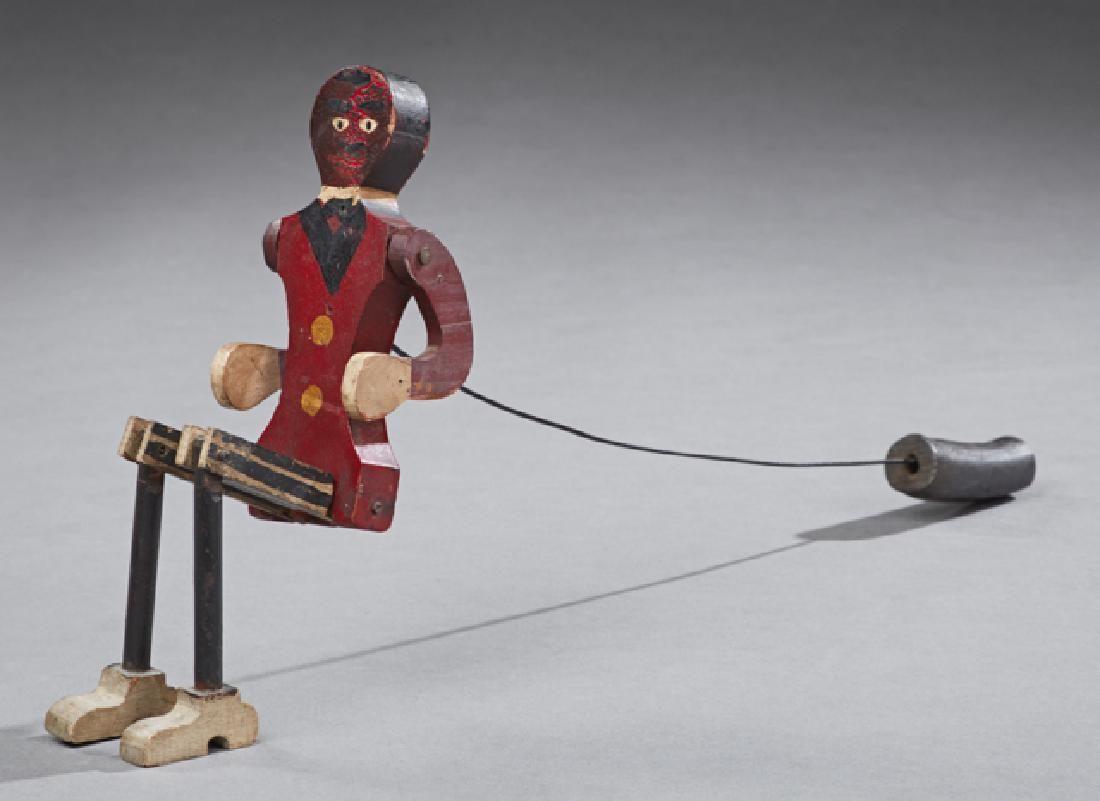 African American Folk Art Dancing Man Toy, early 20th