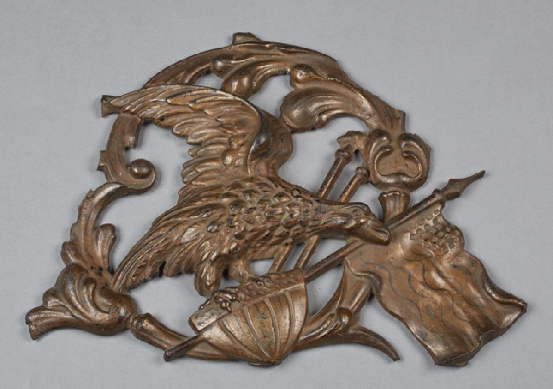 Cast iron American Flying Eagle Wall Plaque, late 19th